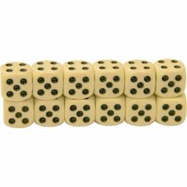12x dobbelstenen van 1,2 cm