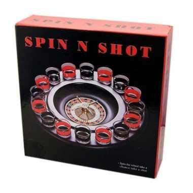Drankspel/drinkspel shot roulette
