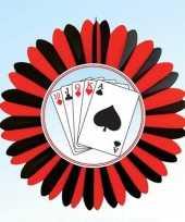 Decoratie waaier casino kaarten